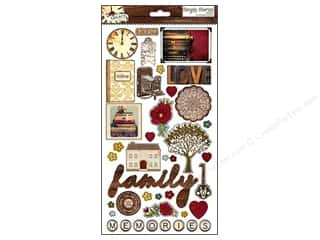 Family Brown: Simple Stories Legacy Sticker Chipboard