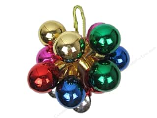 Christmas Darice Holiday Decor: Darice Decor Holiday Ornament 30mm Metallic Assorted 12pc