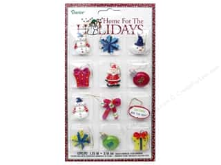 "Darice Decor Holiday Ornament Brt Wmscl 1.25"" 12pc"