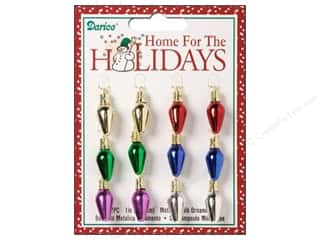 "Lights: Darice Decor Holiday Bulb 1"" Metallic Multicolored 12pc"