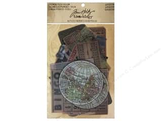 Tim Holtz Paper Die Cuts / Paper Shapes: Tim Holtz Idea-ology Ephemera Pack Vellum Expedition