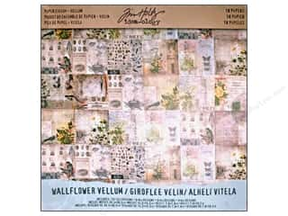 Tim Holtz paper dimensions: Tim Holtz Idea-ology Paper Stash Vellum Wallflower