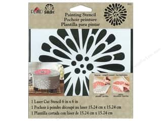 "Weekly Specials Scrapbooking Kits: Plaid Stencil FolkArt Painting 6""x 6"" Gerber Daisy"