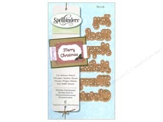 Captions Embossing Aids: Spellbinders D-Lites Die Holiday Sentiments