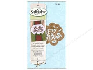 Embossing Aids Christmas: Spellbinders D-Lites Die Happy Holiday Sentiment