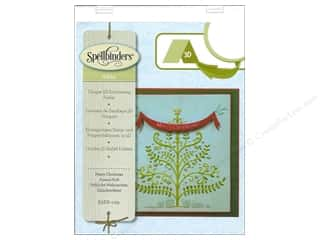 Glitter Christmas: Spellbinders Embossing Folder M Bossabilities 3D Merry Christmas