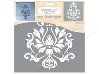 Kids Crafts Americana: DecoArt Stencil Americana Decor Brocade Motif