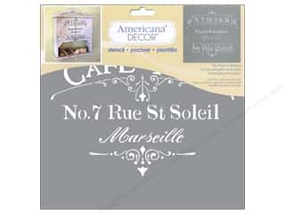 Craft & Hobbies Stencils: DecoArt Stencil Americana Decor Cafe Paris