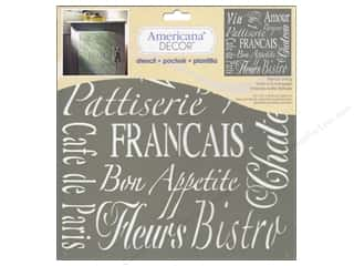 Kids Crafts Americana: DecoArt Stencil Americana Decor French Living