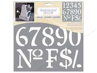 Plastics ABC & 123: DecoArt Stencil Americana Decor Olde World Numbers