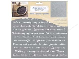 DecoArt Stencil Americana Decor Old French Script Picture