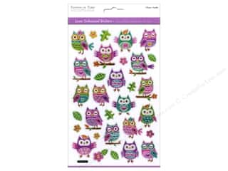 Multi's Embellishment  Yarn Animals: Multicraft Sticker Laser Embossed Owls