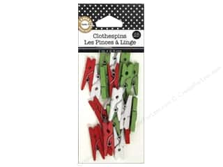 Canvas Corp Mini Clothespins 25 pc. Holiday