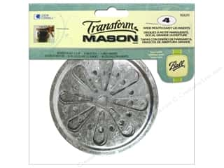 Loew Cornell: Loew Cornell Transform Mason Lid Inserts 4 pc. Wide Mouth Daisy