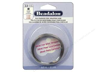 Wire Stainless: Beadalon 316L Stainless Steel Wrapping Wire 22 ga Square 21.3 ft.