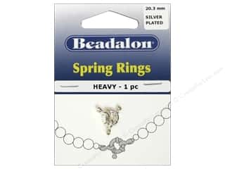Beadalon Spring Ring Clasps Heavy 9.4 mm Silver 1 pc.