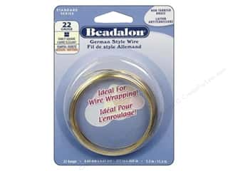 Beadalon German Style Wire 22ga Fancy Square Brass 11.5 ft.