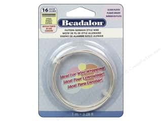 Clearance Beadalon German Style Wire: Beadalon German Style Wire 16ga Spiral Pattern Silver Plated 3.28 ft.