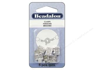 Beading & Jewelry Making Supplies Beadalon: Beadalon Filigree Clasps 13 mm 2 Strand Silver Plated 5 pc.