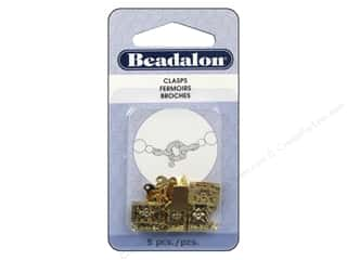 Beadalon Filigree Clasps 13 mm 2 Strand Gold 5 pc.