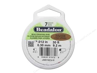 "7"" wire: Beadalon Bead Wire 7 Strand .012 in. Satin Copper 30 ft."