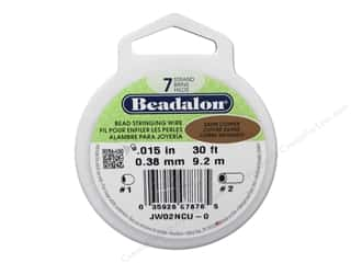 Wire Beading & Jewelry Making Supplies: Beadalon Bead Wire 7 Strand .015 in. Satin Copper 30 ft.