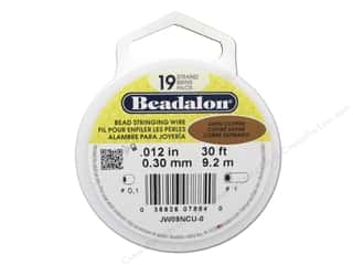 silver Wire Beading & Jewelry Making Supplies Wirework: Beadalon Bead Wire 19 Strand .015 in. Satin Copper 30 ft.