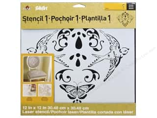 Plaid Stencil FolkArt Designer Nature Damask