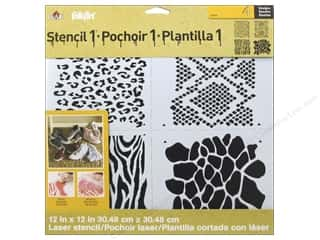 Animals Craft & Hobbies: Plaid Stencil FolkArt Designer Animal Print