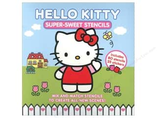 Stencils New: Abrams Hello Kitty Super-Sweet Stencils Book