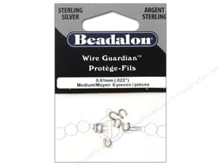 Findings Miscellaneous Findings: Beadalon Wire Guardian .022 in. Sterling Silver 6 pc.