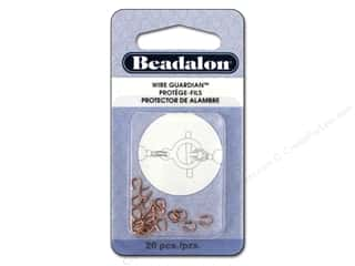 Findings inches: Beadalon Wire Guardian .022 in. Copper Plated 20 pc.