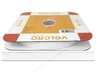 Velcro / Hook & Loop Tape Iron-On Velcro / Iron-On Hook & Loop Tape: VELCRO brand Soft Sew On Tape 5/8''x 30' Reel White (30 feet)
