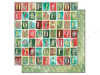BasicGrey 12 x 12 in. Paper Evergreen Holly Jolly (25 piece)