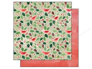 Bells Red: BasicGrey 12 x 12 in. Paper Evergreen Jingle Bells (25 pieces)