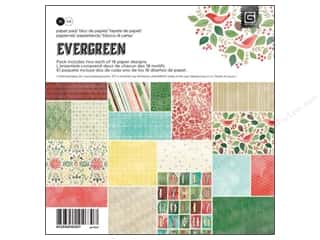 Floral Arranging ABC & 123: BasicGrey Paper Pad 6 x 6 in. Evergreen 36 pc.