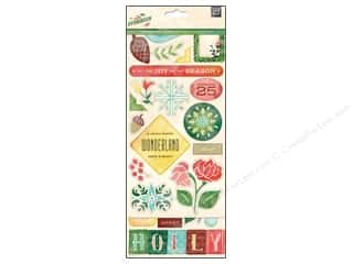 Flowers / Blossoms Winter Wonderland: BasicGrey Chipboard Stickers Evergreen
