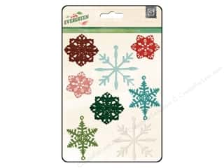 BasicGrey Stamped Metal Shapes 8 pc. Evergreen