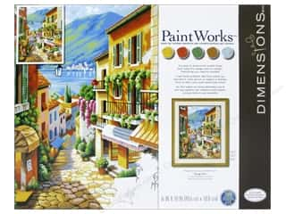 "Outdoors $16 - $20: Paintworks Paint By Number 16""x 20"" Village Steps"