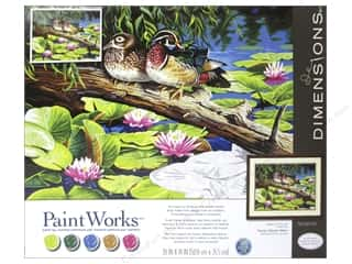 "Outdoors Crafting Kits: Paintworks Paint By Number 20""x 14"" The Lily Pond"