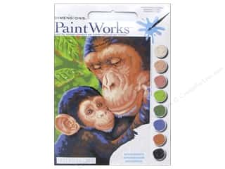 "Paints Mothers: Paintworks Paint By Number 9""x 12"" Chimp and Baby"