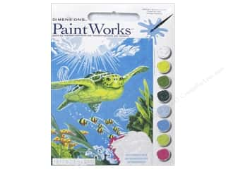 "Paintworks Paint By Number 9""x 12"" Swimming Turtle"