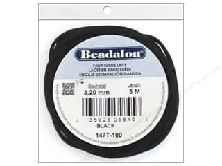 Beading & Jewelry Making Supplies $2 - $3: Beadalon Faux Suede Lace 3.2 mm Black 5M