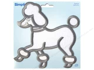 Wrights Embroidered Appliques: Simplicity Appliques Iron On X Large White Poodle
