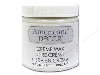 Finishes: DecoArt Americana Decor Creme Waxes 4oz Clear