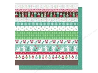 "Hearts Christmas: Lawn Fawn Snow Day Paper 12""x 12"" Chunky Scarf (12 pieces)"