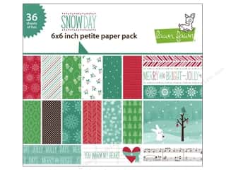 "Cards Music & Instruments: Lawn Fawn Snow Day Paper Pack 6""x 6"""
