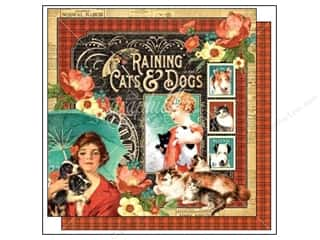 "Pets Sale: Graphic 45 Raining Cats & Dogs Paper 12""x 12"" (25 pieces)"