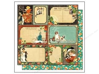 "Weekly Specials Papers: Graphic 45 Raining Cats & Dogs Paper 12""x 12"" Four-Legged Friend (25 pieces)"