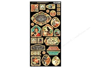 Graphic 45: Graphic 45 Raining Cats & Dogs Decorative Chipboard